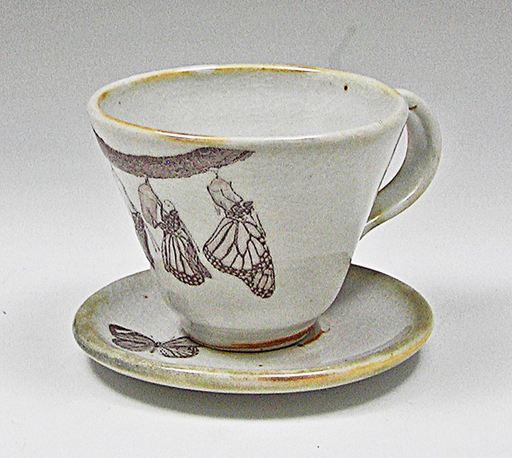 Monarch cup and saucer